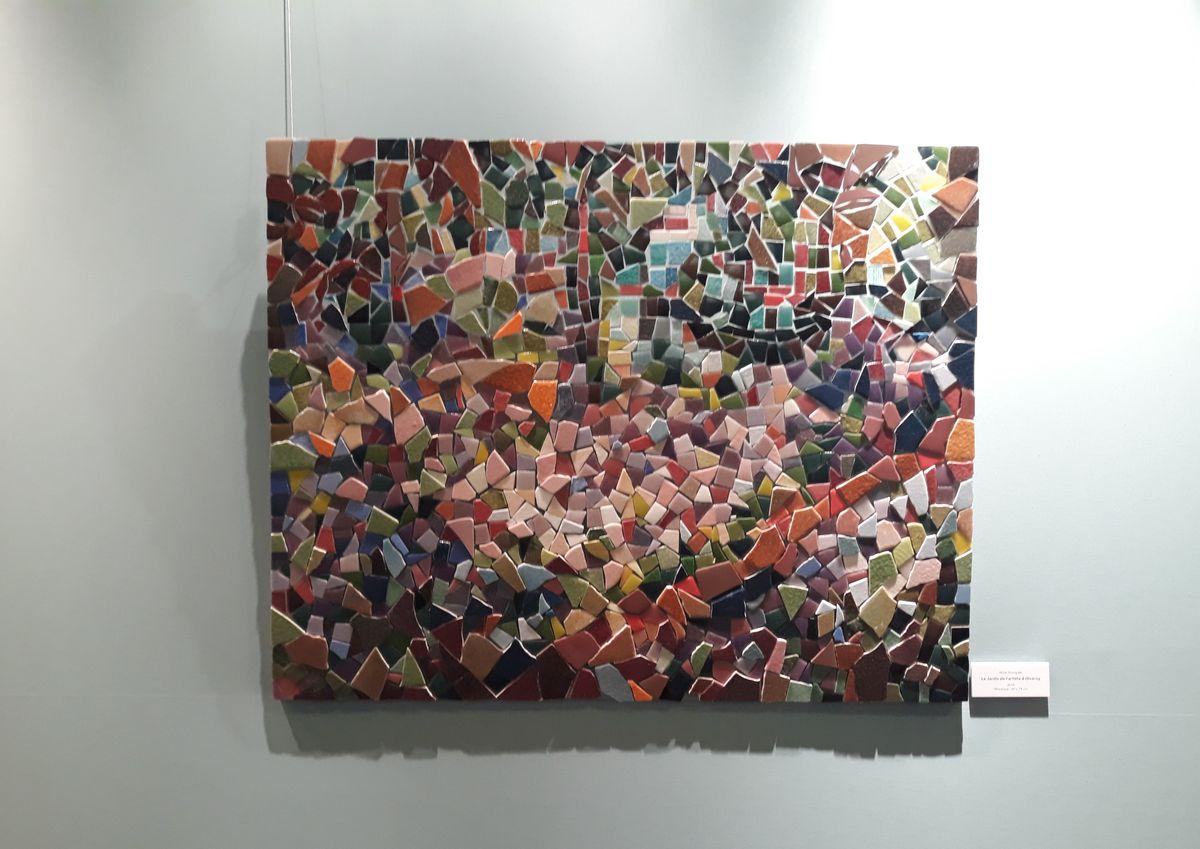 interprétation en mosaique d'une oeuvre impressionniste